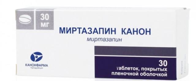 Миртазапин Канон таблетки п.о 30мг №30 купить в Москве по цене от 691 рублей