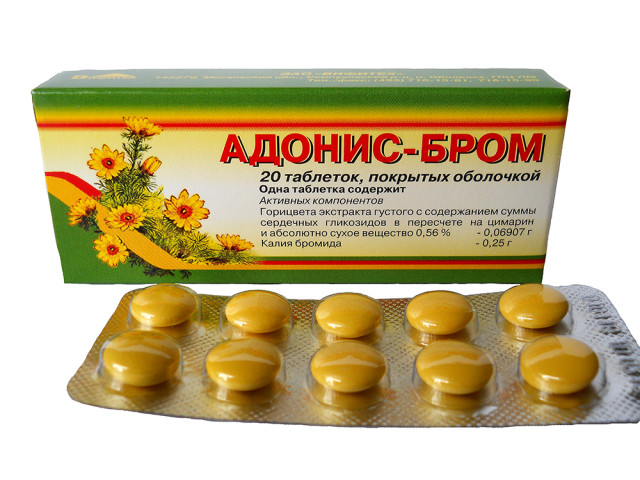 Адонис-бром таблетки п.о №20 купить в Москве по цене от 104 рублей