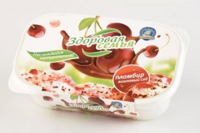 Биомороженое Здоровая семья ванночка Вишневый сад 420г купить в Москве по цене от 0 рублей