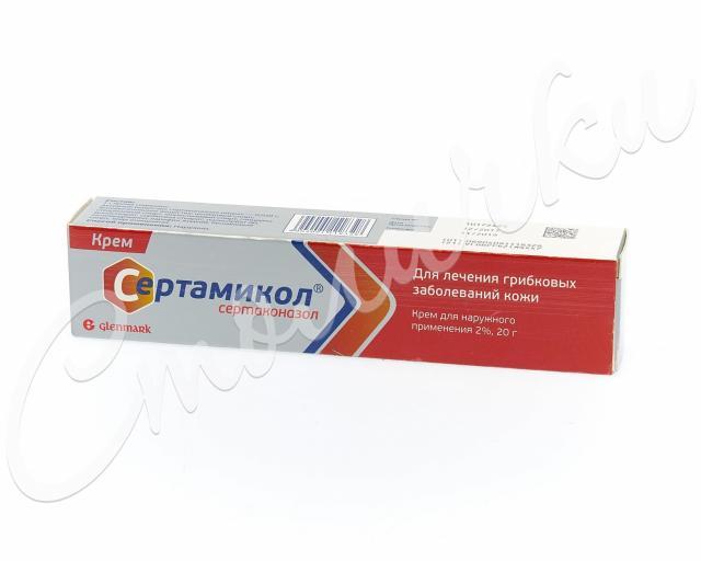 Сертамикол крем 2 % 20г купить в Москве по цене от 0 рублей