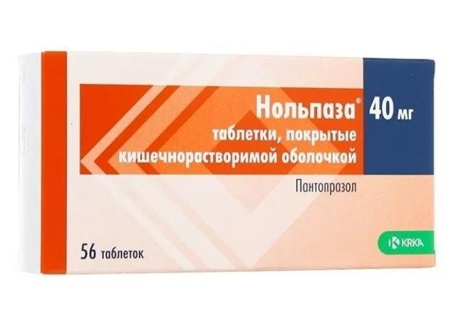 Нольпаза таблетки 40мг №56 купить в Москве по цене от 649 рублей
