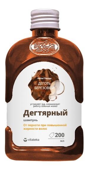 Витатека шампунь Дегтярный от перхоти и повыш. жирн. волос 200мл купить в Москве по цене от 99 рублей