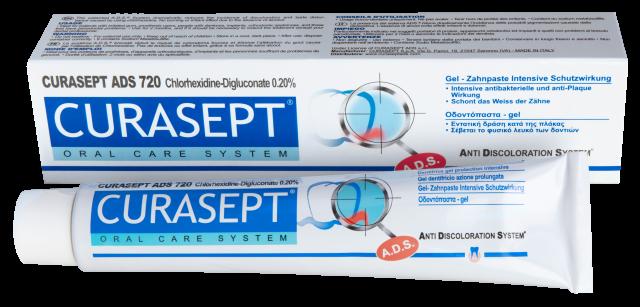 Курасепт зубная паста 0,2% хлоргексидин 75мл ADS720 купить в Москве по цене от 1010 рублей