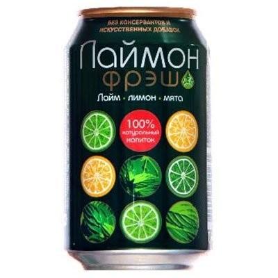 Лаймон фреш напиток 0,33л (банка) купить в Москве по цене от 0 рублей