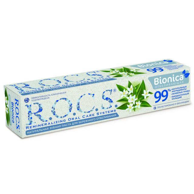 Рокс зубная паста Бионика отбелив. 74г купить в Москве по цене от 242 рублей