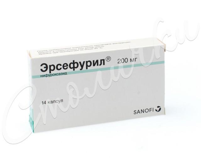 Эрсефурил капсулы 200мг №14 купить в Москве по цене от 444 рублей