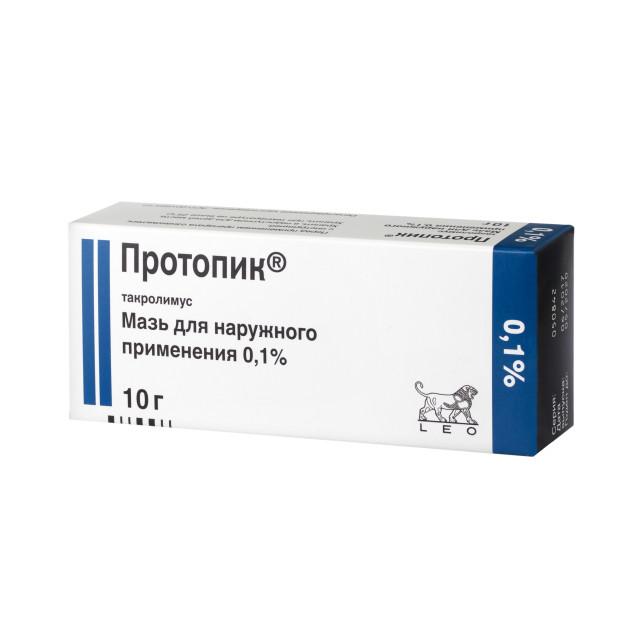 Протопик мазь 0,1% 10г купить в Москве по цене от 670 рублей