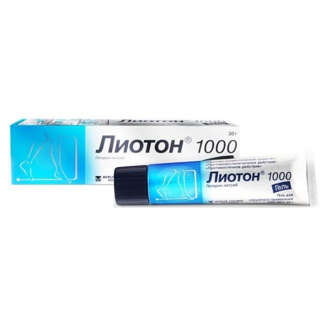 Лиотон 1000 гель 1000 ЕД/г 30г купить в Москве по цене от 448 рублей