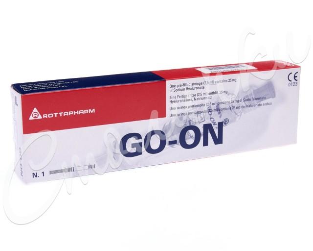 Гоу-Он протез синовиальной жидкости шприц 2,5мл №1 купить в Москве по цене от 2250 рублей