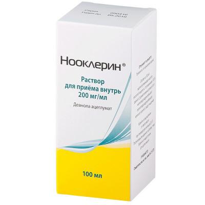 Нооклерин раствор для внутреннего применения 20% 100мл купить в Москве по цене от 434 рублей