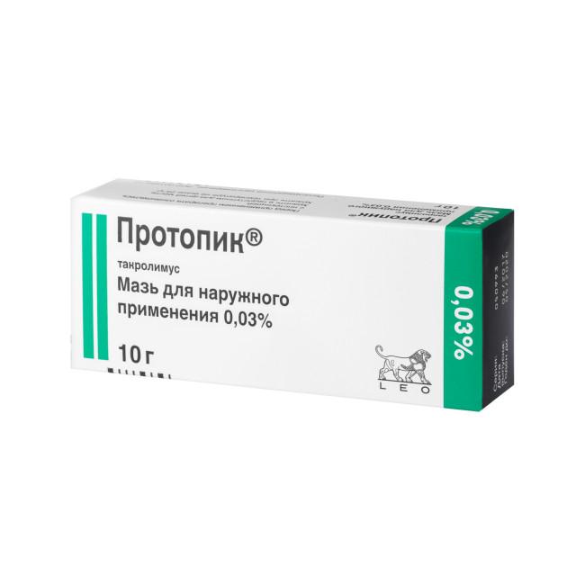 Протопик мазь 0,03% 10г купить в Москве по цене от 641 рублей