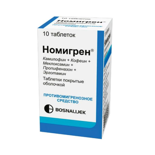 Номигрен таблетки №10 купить в Москве по цене от 483 рублей