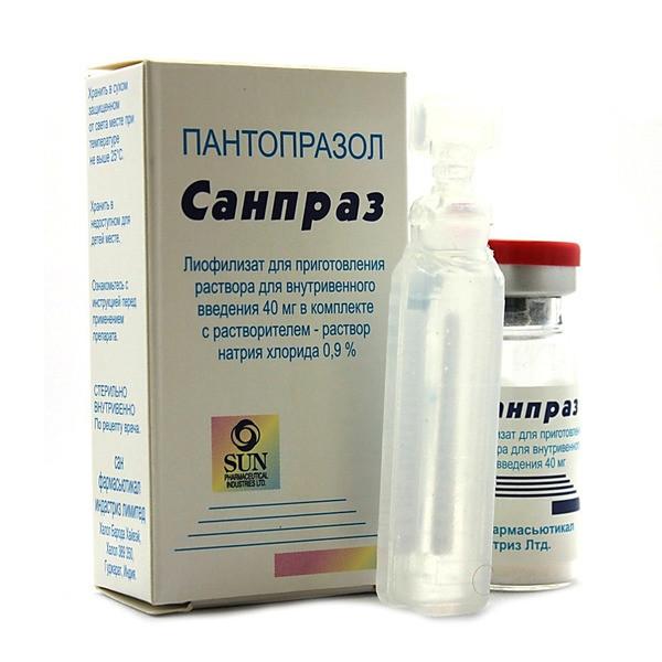 Санпраз лиофилизат для приготовления раствора 40мг 10мл фл. №1 купить в Москве по цене от 363 рублей