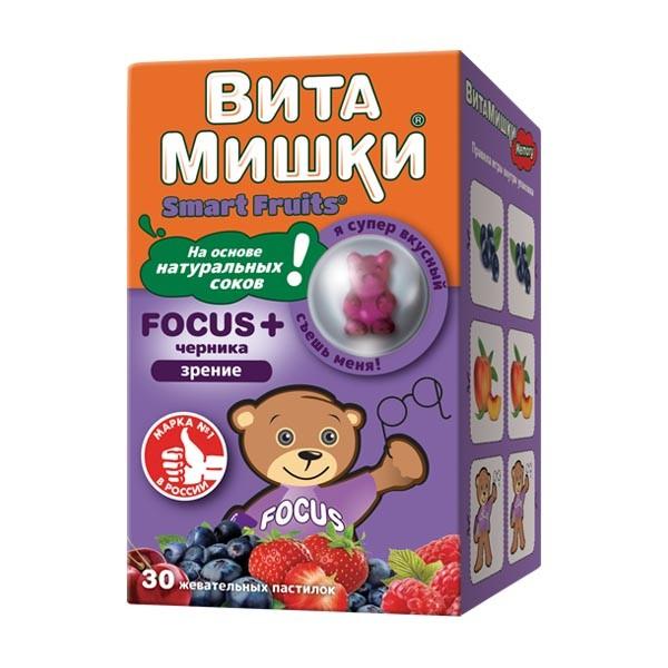 ВитаМишки ФОКУС+ жевательные пастилки №30 купить в Москве по цене от 478 рублей