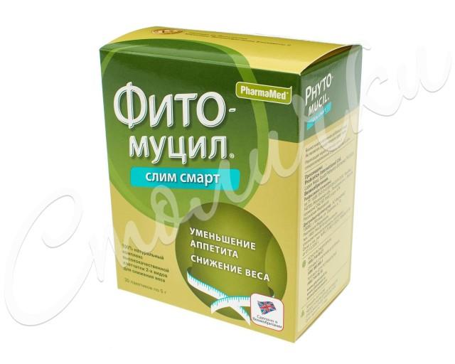 Фитомуцил Слим Смарт порошок пак. 5г №30 купить в Москве по цене от 1140 рублей