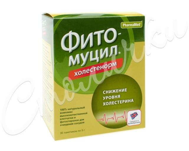 Фитомуцил Холестенорм порошок пак. 5г №30 купить в Москве по цене от 727 рублей