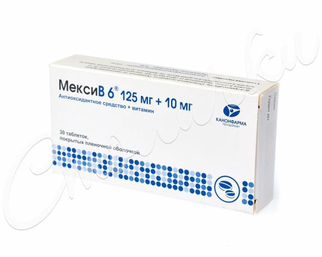 МексиВ 6 таблетки п.о №30 купить в Москве по цене от 349 рублей