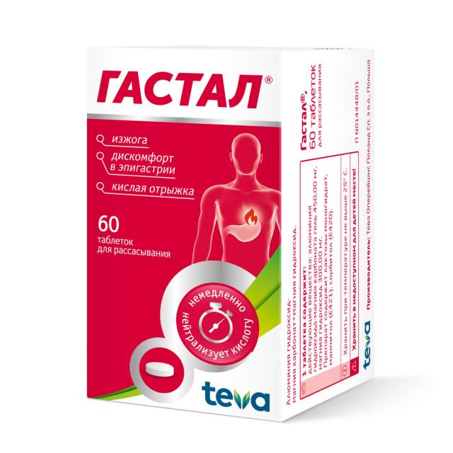 Гастал таблетки №60 купить в Москве по цене от 494 рублей