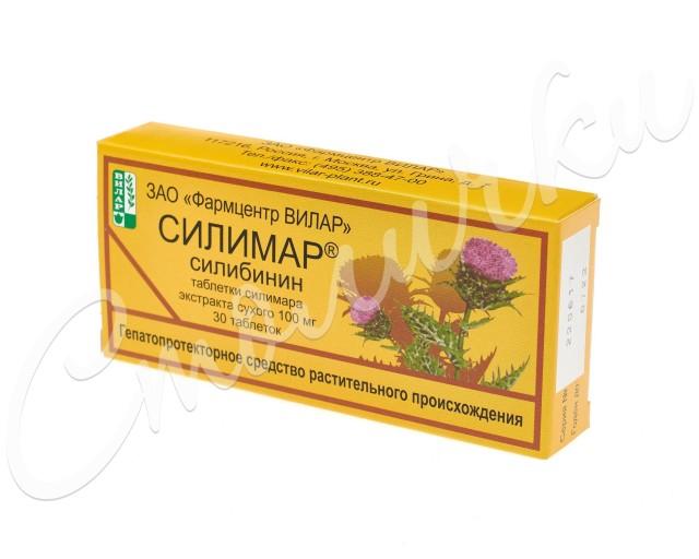 Силимар таблетки 100мг №30 купить в Москве по цене от 109 рублей