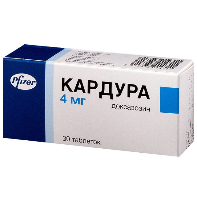 Кардура таблетки 2мг №30 купить в Москве по цене от 534.5 рублей
