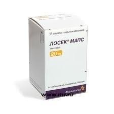 Лосек Мапс таблетки п.о 20мг №14 купить в Москве по цене от 282.5 рублей
