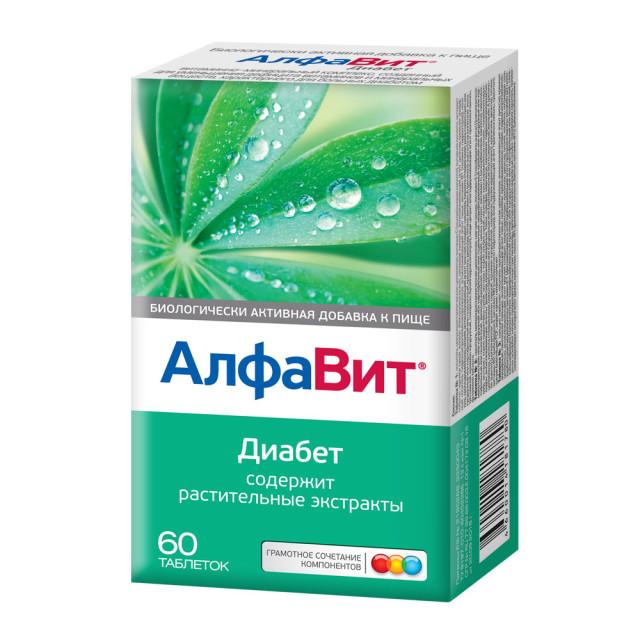 Алфавит Диабет таблетки №60 купить в Москве по цене от 342 рублей