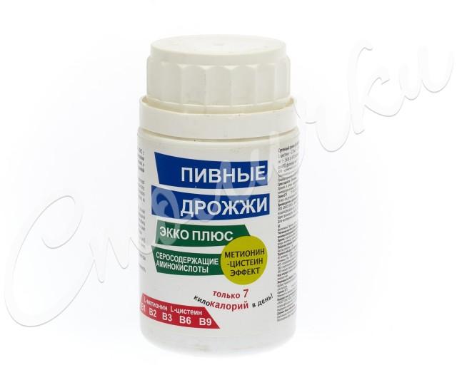 Дрожжи пивные Экко плюс Сера (метионин/цистеин) таблетки №60 купить в Москве по цене от 148 рублей