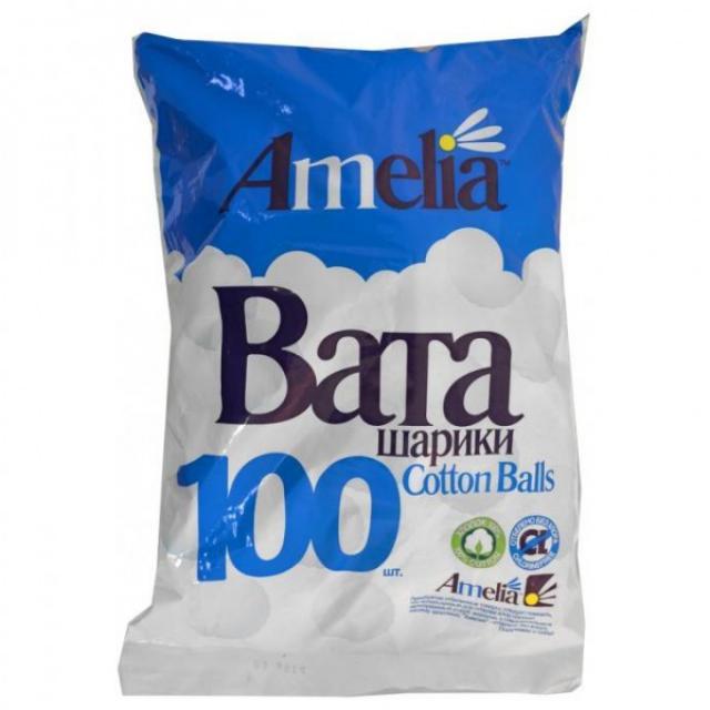 Амелия ватные шарики 70г №100 купить в Москве по цене от 80 рублей