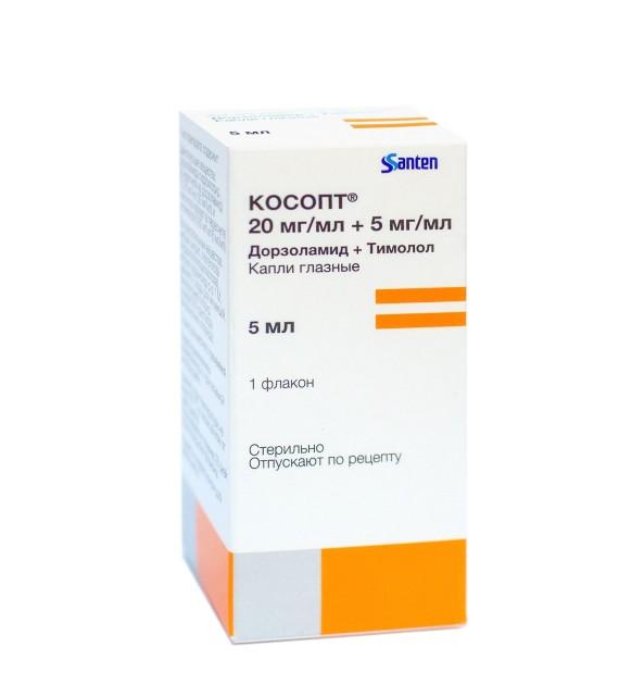 Косопт капли глазные 5мл купить в Москве по цене от 1010 рублей