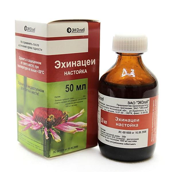 Эхинацея настойка 50мл купить в Москве по цене от 113 рублей