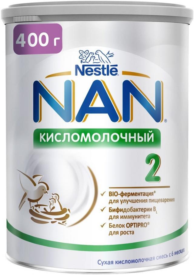 Нан 2 Кисломолочный смесь мол. 6-12мес. 400г купить в Москве по цене от 682 рублей