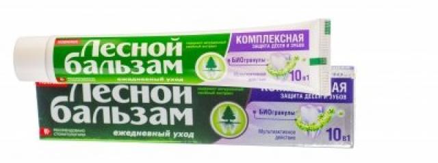 Лесной бальзам зубная паста Комплексная защита 10в1 с биогранул. 75мл купить в Москве по цене от 127 рублей