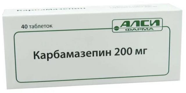 Карбамазепин таблетки 200мг №40 купить в Москве по цене от 74.5 рублей