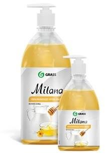 Милана крем-мыло жидкое Молоко и Мёд (дозатор) 1л купить в Москве по цене от 133 рублей