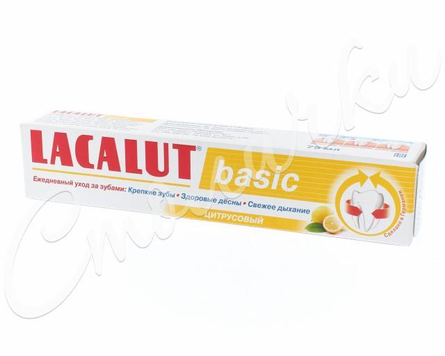 Лакалют зубная паста Бейсик цитрус 75мл/60г купить в Москве по цене от 230 рублей