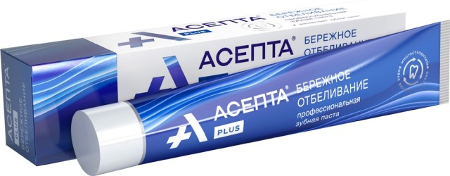 Асепта зубная паста Бережн.отбеливание 75мл купить в Москве по цене от 201 рублей