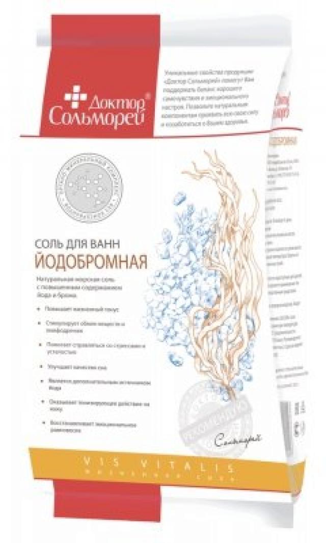 Доктор Сольморей соль для ванн йодобромн. 900г купить в Москве по цене от 117 рублей