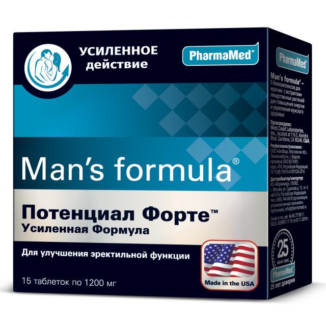 Менс/ф Потенциал форте Усиленная ф-ла таблетки №15 купить в Москве по цене от 770 рублей