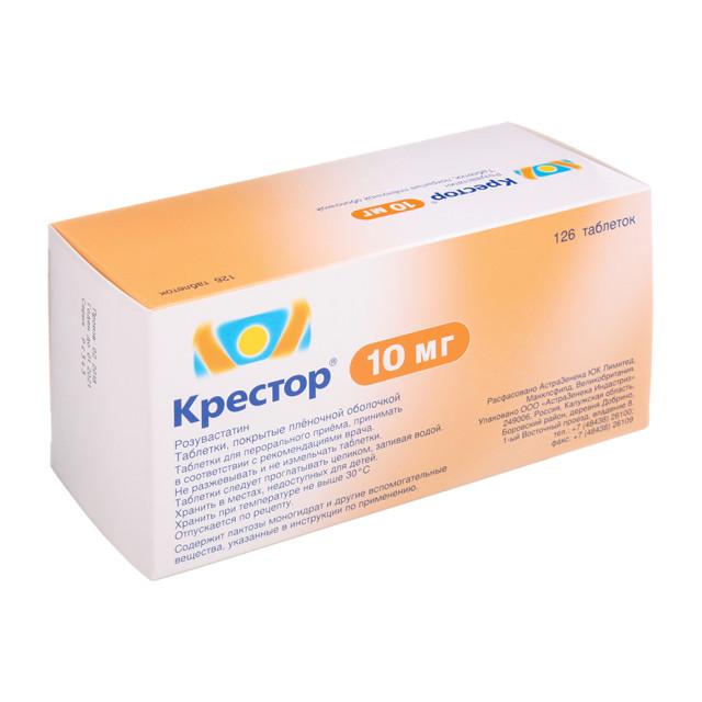 Крестор таблетки п.о 10мг №126 купить в Москве по цене от 4860 рублей