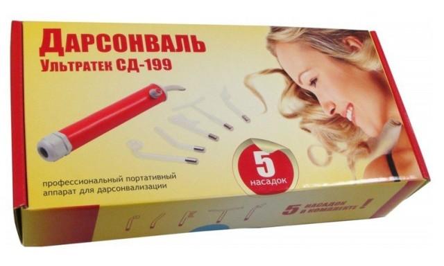 Аппарат для дарсонвализации Ультратек-СД-199 (портативный) купить в Москве по цене от 2910 рублей