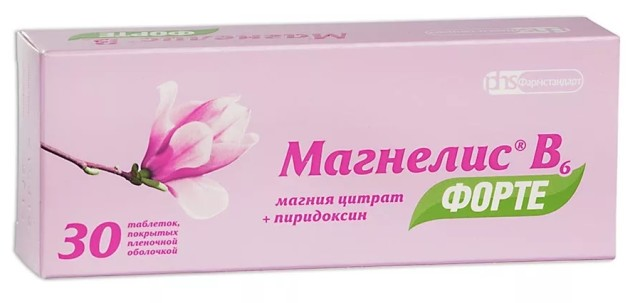 Магнелис B6 форте таблетки п.о №30 купить в Москве по цене от 427 рублей