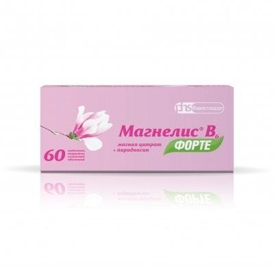 Магнелис B6 форте таблетки п.о №60 купить в Москве по цене от 656 рублей