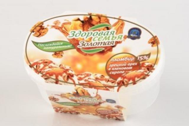 Биомороженое Здоровая семья ванночка Кленовый сироп с орехами 500гр купить в Москве по цене от 0 рублей