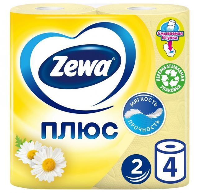 Зева Плюс бумага туалетная ромашка №4 купить в Москве по цене от 105 рублей