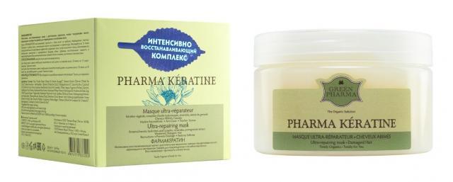 Грин Фармакератин маска для волос восстанавливающая 250мл купить в Москве по цене от 443 рублей