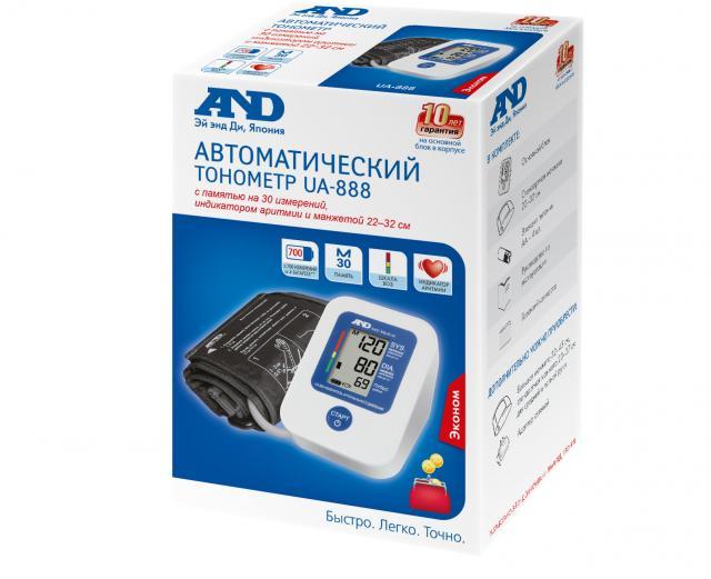 Эй Энд Ди Тонометр автомат UA-888 Эконом купить в Москве по цене от 2060 рублей