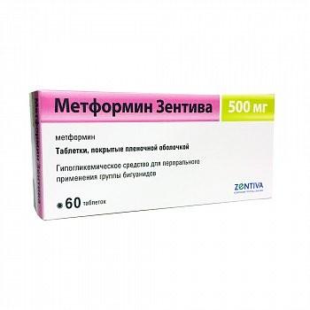 Метформин Санофи таблетки п.о 500мг №60 купить в Москве по цене от 108.5 рублей