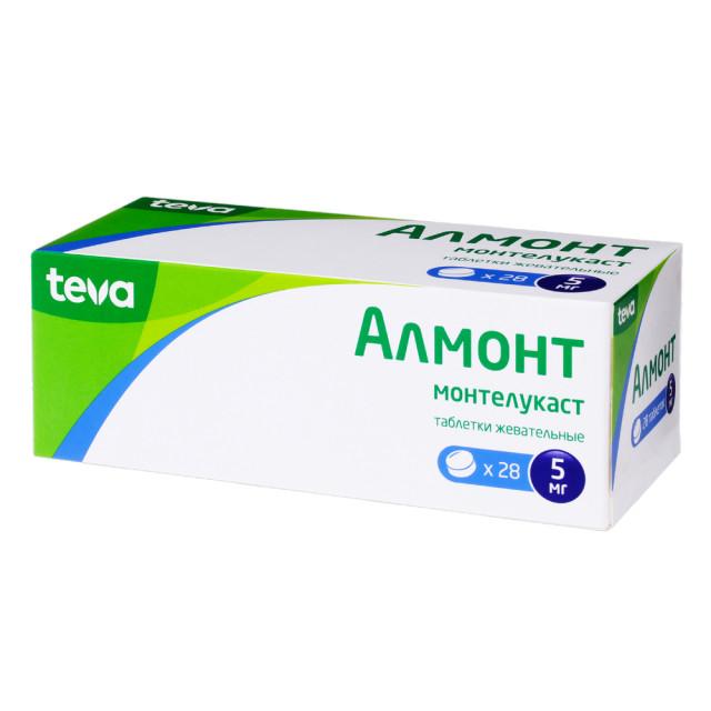 Алмонт таблетки жевательные 5мг №28 купить в Москве по цене от 700 рублей