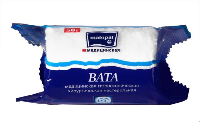 Матопат вата хлопок 50г купить в Москве по цене от 31 рублей