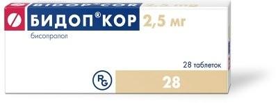 Бидоп кор таблетки п.о 2,5мг №28 купить в Москве по цене от 99.5 рублей